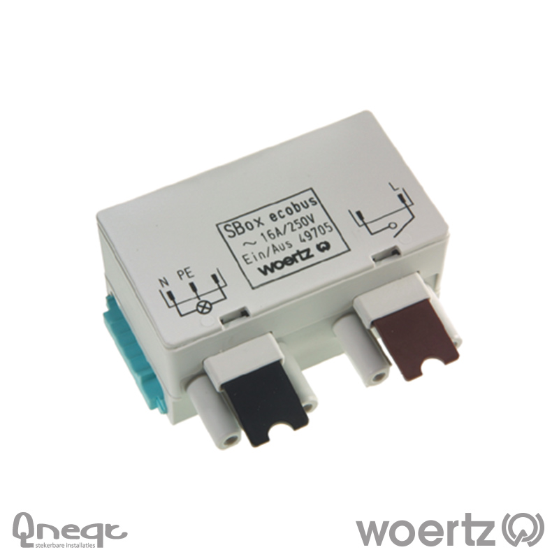 Woertz aftakking 3-polig L1 enkelv. schakeling Power 5G2.5
