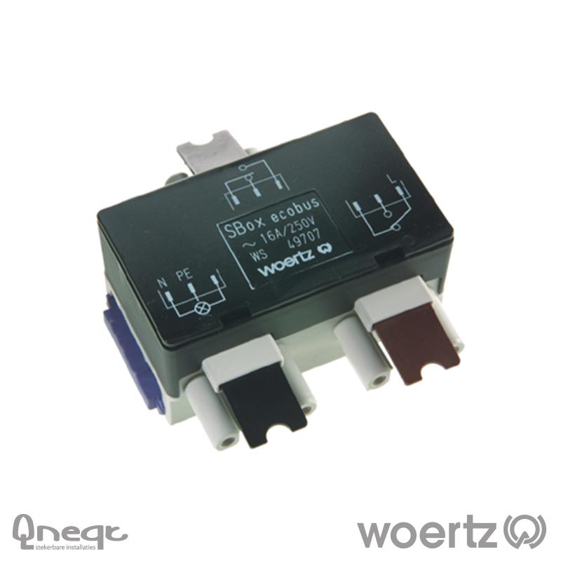 Woertz aftakking 3-polig L1 wisselschakeling Power 5G2.5