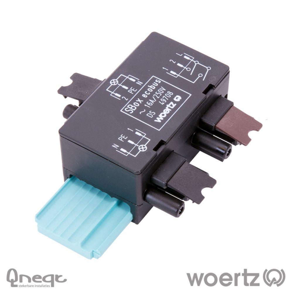 Woertz aftakking 3-polig L1 serieschakeling Power 5G2.5