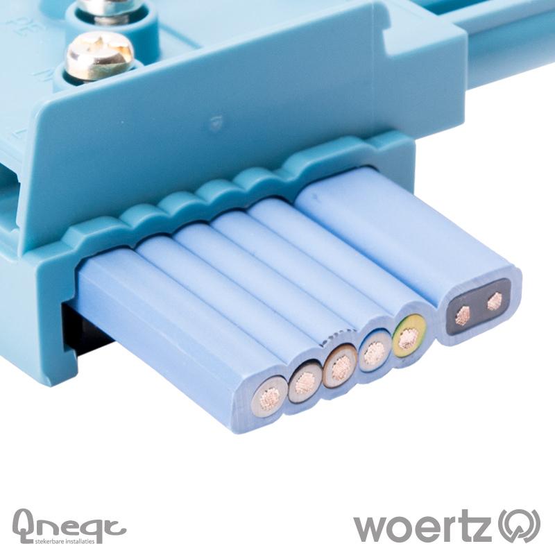 Woertz Dali vlakbandkabel 5G2.5 + 2x1.5 mm2 PVC Eca