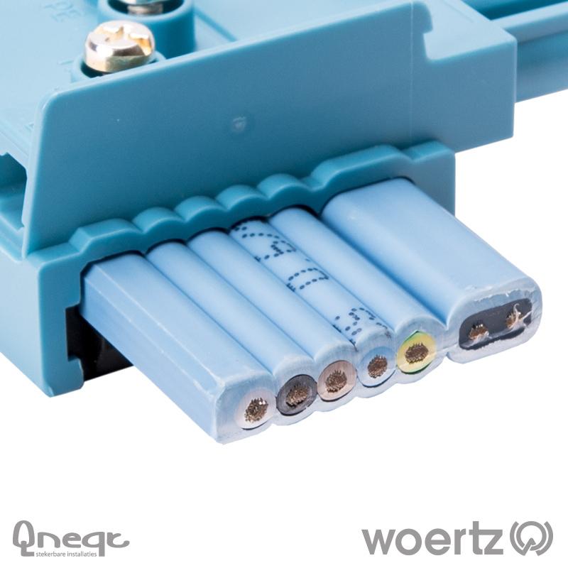 Woertz Dali vlakbandkabel 5G2.5 + 2x1.5 mm2 HV B2ca
