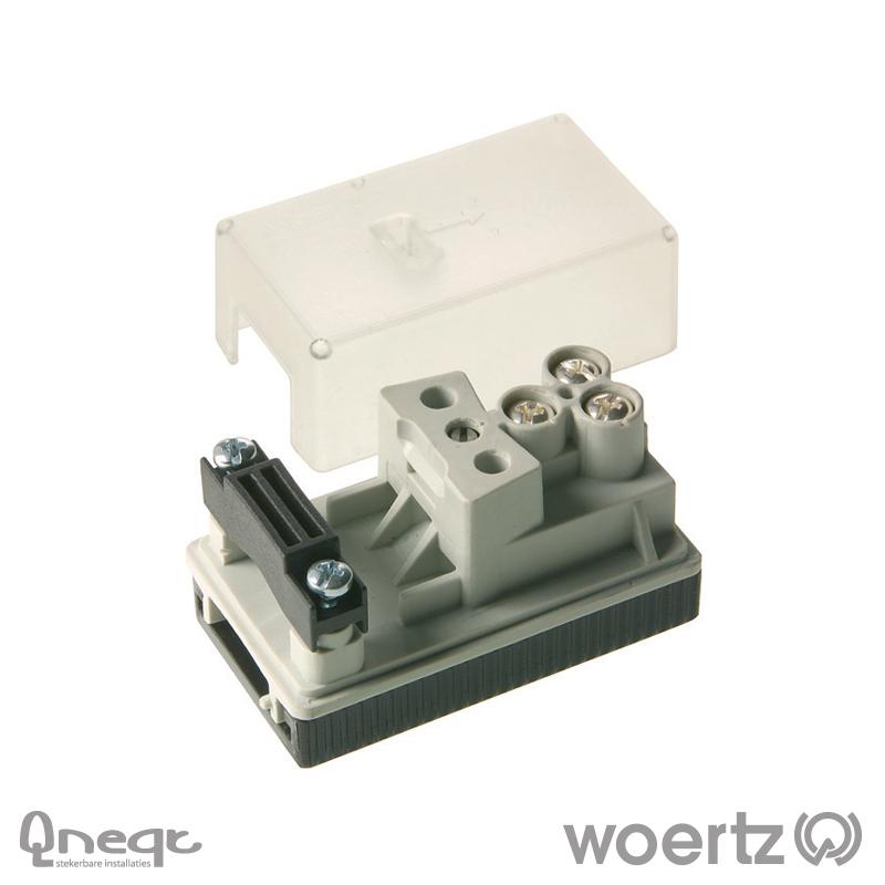 Woertz aansluitdoos voeding voor 3G2.5 en 3G4 kabel