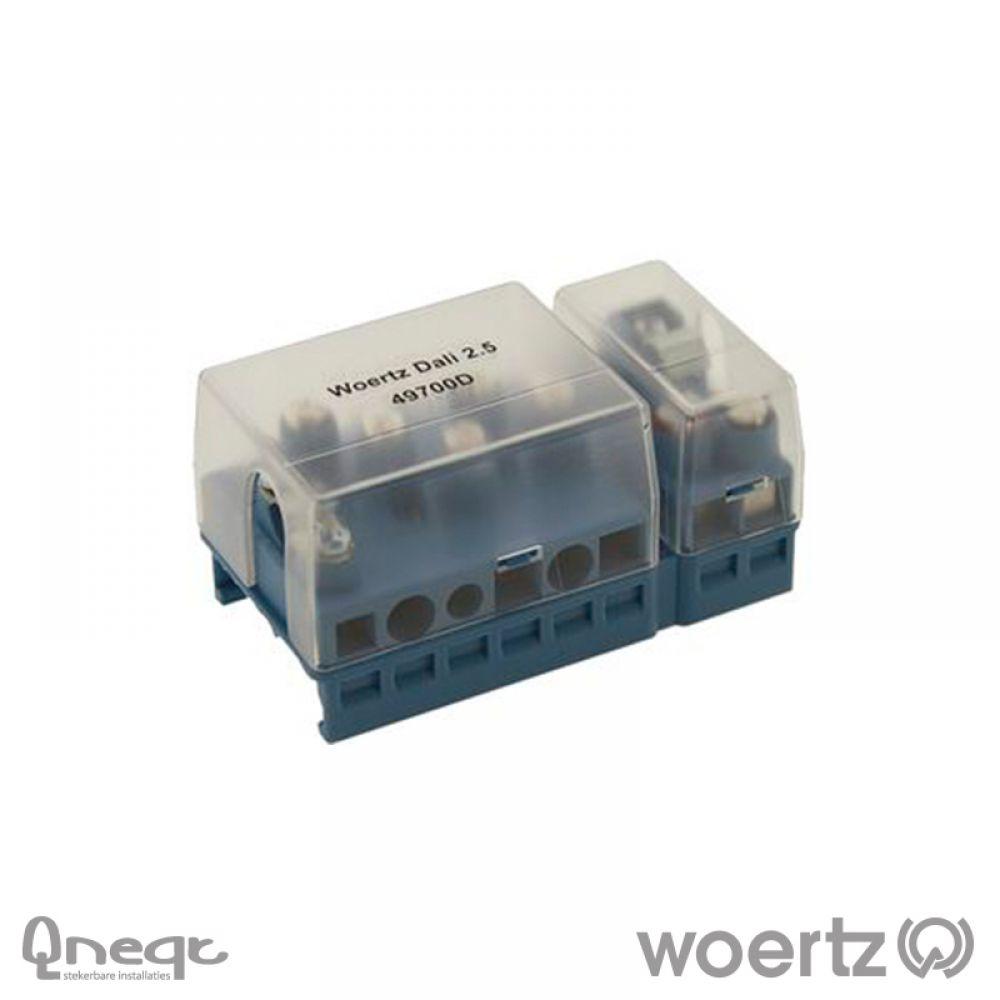 Woertz aansluitdoos voeding en bus voor DALI kabel