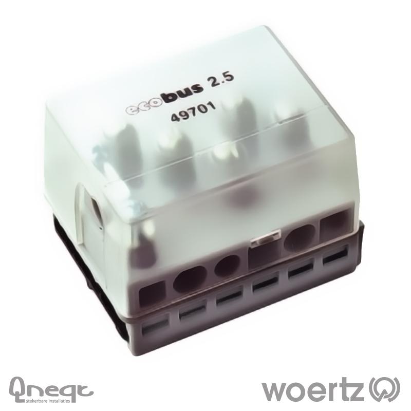 Woertz aansluitdoos voeding voor Combi en DALI kabel