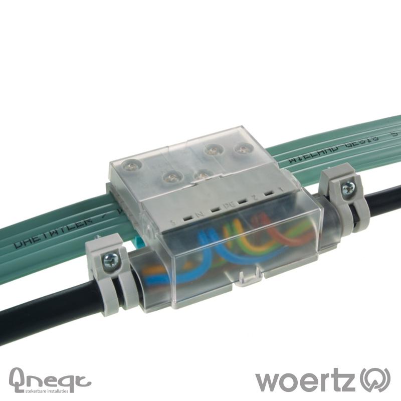 Woertz aansluitdoos voeding vlak voor PC 5G2.5