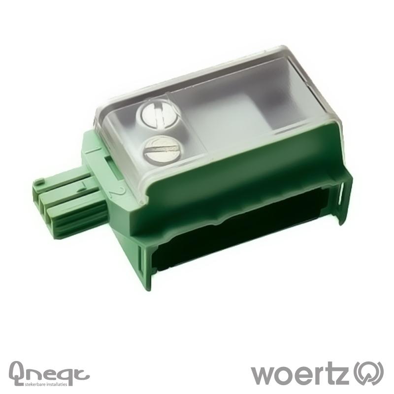 Woertz aftakking 2-polig KNX groen voor Combi kabel