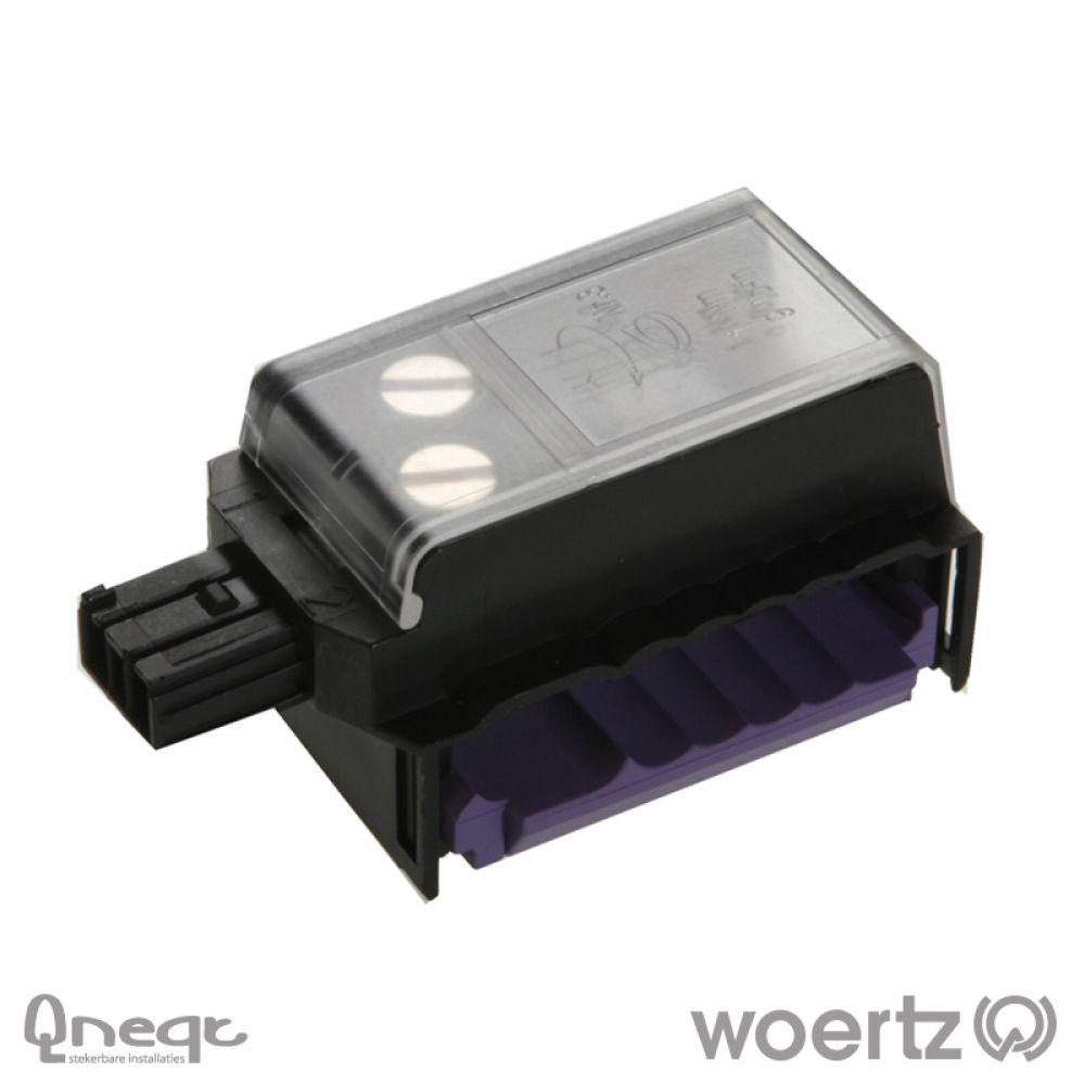 Woertz aftakking 2-polig BUS zwart voor Combi kabel