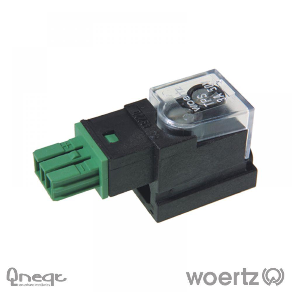 Woertz aftakking 2-polig KNX groen voor DATA 2x1,5