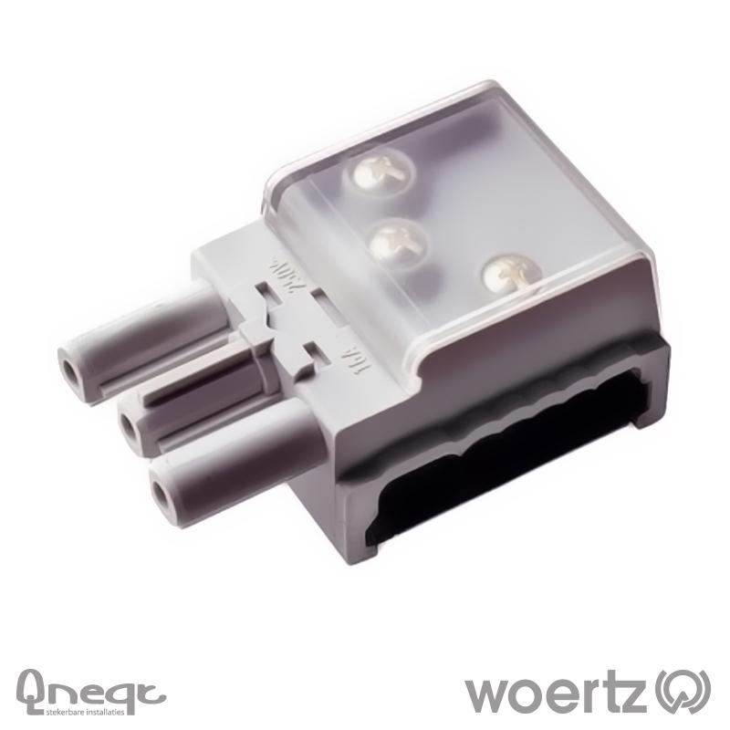 Woertz aftakking 3-polig L1 voor Combi en DALI kabel