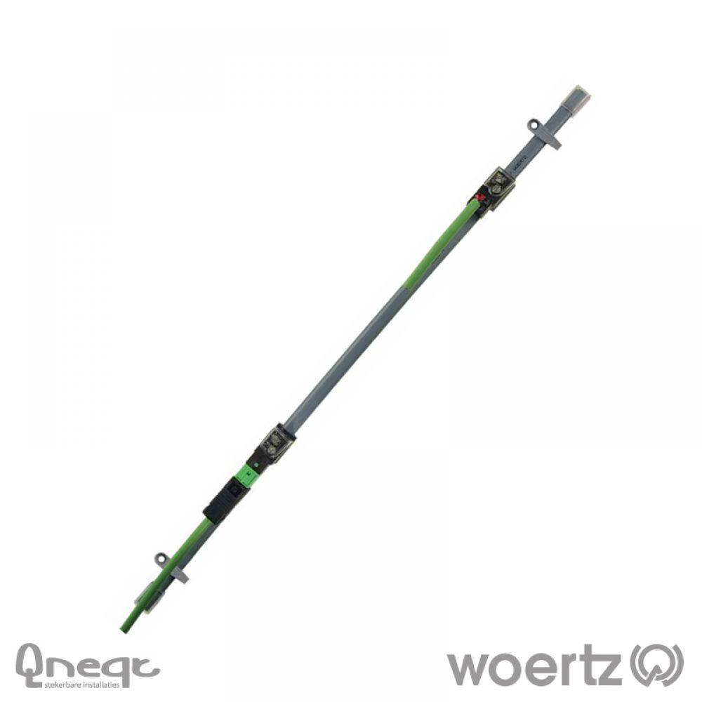 Woertz Data vlakbandkabel 2x1.5 mm2 HV Cca
